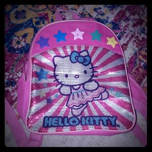 EUC Hello Kitty sequin small pink backpack